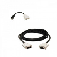 Adaptor cablu DisplayPort to DVI-D + cablu DVI-D to DVI-D Calculatoare