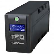 UPS TED Line Interactive 1600VA/900W, display LCD, 4 x Schuko Servere & Retelistica