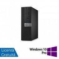 Calculator DELL Optiplex 3040 SFF, Intel Pentium G4400 3.30GHz, 4GB DDR3, 500GB SATA, DVD-RW + Windows 10 Pro Calculatoare