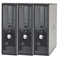 Pachet 3 x Calculator Dell Optiplex 380 SFF, Intel Celeron E3300 2.5Ghz, 2GB DDR3, 160GB HDD, DVD-ROM Calculatoare