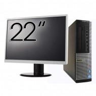 Pachet Calculator DELL OptiPlex 7010 Desktop, Intel Core i5-3550 3.30GHz, 4GB DDR3, 500GB SATA, DVD-RW + Monitor 22 Inch Calculatoare