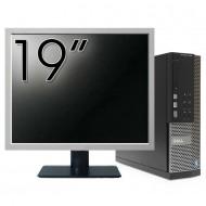 Calculator DELL OptiPlex 7010 SFF, Intel Core i5-3470 3.20GHz, 4GB DDR3, 250GB SATA, DVD-RW + Monitor 19 Inch Calculatoare