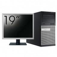Pachet Calculator Dell OptiPlex 7010 Tower, Intel Core i5-3470 3.20GHz, 4GB DDR3, 500GB SATA, DVD-RW + Monitor 19 Inch Calculatoare