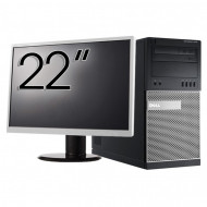 Pachet Calculator Dell OptiPlex 7010 Tower, Intel Core i5-3470 3.20GHz, 4GB DDR3, 500GB SATA, DVD-RW + Monitor 22 Inch Calculatoare