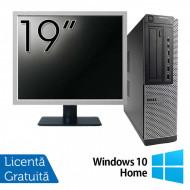 Pachet Calculator DELL 790 Desktop, Intel Core i5-2400 3.10GHz, 4GB DDR3, 250GB SATA, DVD-ROM + Monitor 19 Inch + Windows 10 Home Calculatoare
