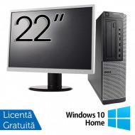 Pachet Calculator DELL 790 Desktop, Intel Core i5-2400 3.10GHz, 4GB DDR3, 250GB SATA, DVD-ROM + Monitor 22 Inch + Windows 10 Home Calculatoare