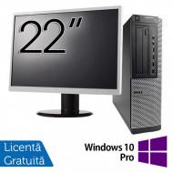 Pachet Calculator DELL 790 Desktop, Intel Core i5-2400 3.10GHz, 4GB DDR3, 250GB SATA, DVD-ROM + Monitor 22 Inch + Windows 10 Pro Calculatoare