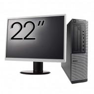 Pachet Calculator DELL 790 Desktop, Intel Core i5-2400 3.10GHz, 4GB DDR3, 250GB SATA, DVD-ROM + Monitor 22 Inch Calculatoare