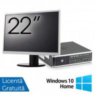 Pachet Calculator HP 8300 USDT, Intel Core i3-3220 3.30GHz, 8GB DDR3, 120GB SSD, DVD-RW + Monitor 22 Inch + Windows 10 Home Calculatoare