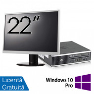 Pachet Calculator HP 8300 USDT, Intel Core i3-3220 3.30GHz, 8GB DDR3, 120GB SSD, DVD-RW + Monitor 22 Inch + Windows 10 Pro Calculatoare