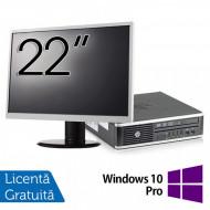 Pachet Calculator HP 8300 USDT, Intel Core i5-3470S 2.90GHz, 8GB DDR3, 120GB SSD, DVD-RW + Monitor 22 Inch + Windows 10 Pro Calculatoare