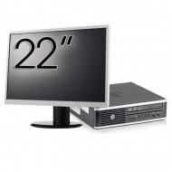 Pachet Calculator HP 8300 USDT, Intel Core i3-3220 3.30GHz, 8GB DDR3, 120GB SSD, DVD-RW + Monitor 22 Inch Calculatoare