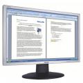 Monitor Philips 220AW, 22 Inch LCD, 1680 x 1050, VGA, DVI, Fara picior