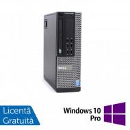 Calculator DELL OptiPlex 9020 SFF, Intel Core i7-4770 3.40GHz, 4GB DDR3, 250GB SATA, DVD-ROM + Windows 10 Pro Calculatoare