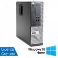 Calculator Dell OptiPlex 390 SFF, Intel Core i3-2100 3.10GHz, 4GB DDR3, 250GB SATA, Radeon HD7470 1GB DDR3, DVD-ROM + Windows 10 Home