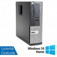 Calculator Dell OptiPlex 390 SFF, Intel Core i3-2100 3.10GHz, 4GB DDR3, 250GB SATA, Radeon HD7470 1GB DDR3, DVD-ROM + Windows 10 Home Calculatoare