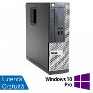 Calculator Dell OptiPlex 390 SFF, Intel Core i3-2100 3.10GHz, 4GB DDR3, 250GB SATA, DVD-ROM + Windows 10 Pro Calculatoare