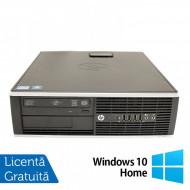 Calculator Refurbished HP 8200 Elite SFF, Intel Core i5-2400 3.10GHz, 4GB DDR3, 250GB SATA, DVD-ROM, Port Serial, Display Port + Windows 10 Home Calculatoare