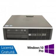 Calculator Refurbished HP 8200 Elite SFF, Intel Core i3-2100 3.10GHz, 4GB DDR3, 250GB SATA, DVD-ROM, Port Serial, Display Port + Windows 10 Pro Calculatoare