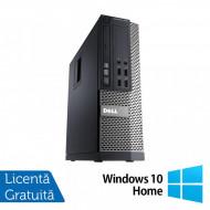 Calculator DELL OptiPlex 7010 SFF, Intel Core i5-3470 3.20GHz, 4GB DDR3, 250GB SATA, DVD-RW + Windows 10 Home Calculatoare
