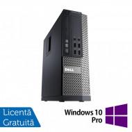 Calculator DELL OptiPlex 7010 SFF, Intel Core i3-3245 3.40GHz, 4GB DDR3, 500GB SATA, DVD-RW + Windows 10 Pro Calculatoare