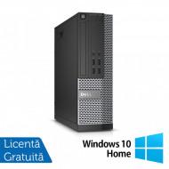 Calculator DELL OptiPlex 7020 SFF, Intel Core i3-4130 3.40GHz, 4GB DDR3, 500GB SATA, DVD-RW + Windows 10 Home Calculatoare