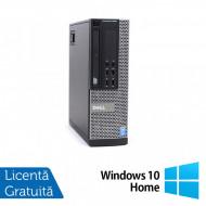 Calculator DELL OptiPlex 9020 SFF, Intel Core i7-4770 3.40GHz, 4GB DDR3, 250GB SATA, DVD-ROM + Windows 10 Home Calculatoare
