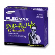 DVD-RW Samsung Pleomax 4.7GB, 1-4X, Jewel Case, 5 Bucati Software & Diverse
