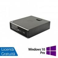 Calculator HP 6300 SFF, Intel Pentium G620 2.60GHz, 4GB DDR3, 250GB SATA, DVD-RW + Windows 10 Pro Calculatoare