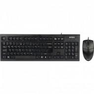 Kit Tastatura + Mouse cu fir A4Tech KR-8520D-USB, KR-85 + OP-620D, USB, negru Componente & Accesorii