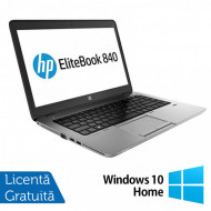 Laptop HP EliteBook 840 G1, Intel Core i5-4200U 1.60GHz, 4GB DDR3, 120GB SSD, 14 Inch, Webcam + Windows 10 Home Laptopuri