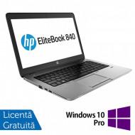Laptop HP EliteBook 840 G1, Intel Core i5-4200U 1.60GHz, 4GB DDR3, 120GB SSD, 14 Inch, Webcam + Windows 10 Pro Laptopuri