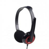 Casti Gembird cu microfon, lungime fir 1.8m, conector jack 3.5mm, Black Componente & Accesorii