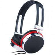 Casti Gembird cu microfon, lungime fir 1.5m, control volum pe cablu, conector jack 3.5mm, Black (+ Silver & Red) Componente & Accesorii