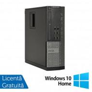 Calculator Dell OptiPlex 9010 SFF, Intel Core i3-3220 3.30GHz, 4GB DDR3, 250GB SATA, DVD-ROM + Windows 10 Home Calculatoare