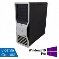 Statie grafica Refurbished Dell Precision T7500 Tower, 1x Intel Xeon X5667 Quad Core 3.06GHz - 3.46GHz, 24GB DDR3, HDD 1TB SATA, DVD-RW, Placa Video Nvidia Quadro 4000/2GB GDDR5/256 bit + Windows 10 Pro Calculatoare