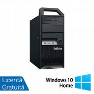 Workstation Lenovo ThinkStation E30 Tower, Intel Xeon Quad Core E3-1220 3.10GHz-3.40GHz, 8GB DDR3, 500GB SATA, nVidia NVS 300/512MB, DVD-ROM + Windows 10 Home Calculatoare