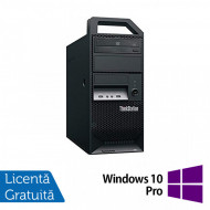 Workstation Lenovo ThinkStation E30 Tower, Intel Xeon Quad Core E3-1220 3.10GHz-3.40GHz, 8GB DDR3, 500GB SATA, nVidia NVS 300/512MB, DVD-ROM + Windows 10 Pro Calculatoare