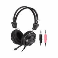 Casti A4Tech HS-28-1, 40mm, Jack 3.5mm, Cu microfon, Negru Componente & Accesorii