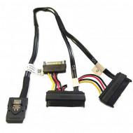 Cablu Dell T3F4V Mini SAS la Dual SAS si Power Cable, 45CM Calculatoare