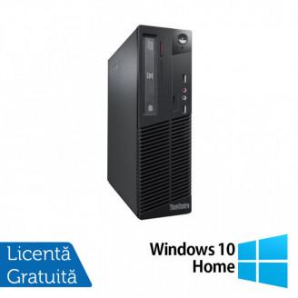 Calculator Lenovo Thinkcentre M73 SFF, Intel Pentium G3250 3.20GHz, 4GB DDR3, 500GB SATA + Windows 10 Home Calculatoare