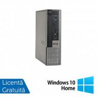Calculator Dell OptiPlex 9020 USFF, Intel Core i7-4770 3.40GHz, 4GB DDR3, 250GB SATA, DVD-ROM + Windows 10 Home Calculatoare