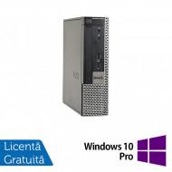 Calculator Dell OptiPlex 9020 USFF, Intel Core i7-4770 3.40GHz, 4GB DDR3, 250GB SATA, DVD-ROM + Windows 10 Pro Calculatoare