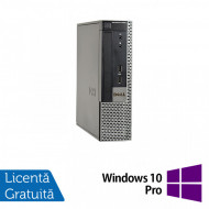 Calculator Dell OptiPlex 9020 USFF, Intel Pentium G3220 3.00GHz, 8GB DDR3, 500GB SATA, DVD-ROM + Windows 10 Pro Calculatoare