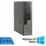 Calculator Dell 990 USFF, Intel Core i5-2400s 2.50GHz, 4GB DDR3, 250GB SATA, DVD-RW + Windows 10 Home Calculatoare