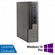 Calculator Dell 990 USFF, Intel Core i5-2400s 2.50GHz, 4GB DDR3, 250GB SATA, DVD-RW + Windows 10 Pro Calculatoare