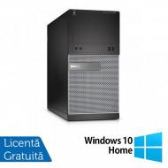 Calculator DELL OptiPlex 3020 Tower, Intel Core i3-4130 3.40GHz, 4GB DDR3, 250GB SATA, DVD-ROM + Windows 10 Home Calculatoare