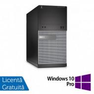 Calculator DELL OptiPlex 3020 Tower, Intel Core i3-4130 3.40GHz, 4GB DDR3, 250GB SATA, DVD-ROM + Windows 10 Pro Calculatoare