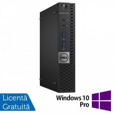 Calculator DELL Optiplex 3040 MiniPC, Intel Core i3-6100T 3.20GHz, 4GB DDR3, 500GB SATA + Windows 10 Pro Calculatoare