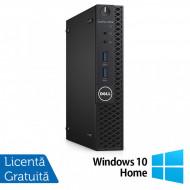 Calculator DELL Optiplex 3060 MiniPC, Intel Core i3-8100T 3.10GHz, 4GB DDR3, 500GB SATA + Windows 10 Home Calculatoare